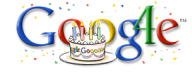 Google's official 4th birthday logo (Sep 2002)