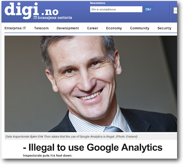 Example of poor journalism about Google Analytics and privacy